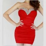 похудела! красное платье придется ушивать!